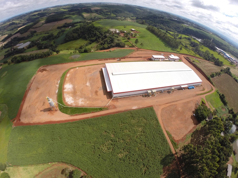 Vista aérea da nova indústria Imobal