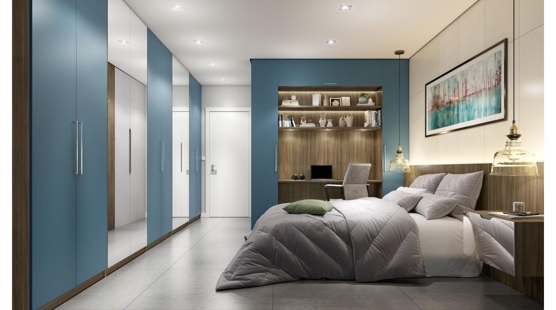 Dormitório Azul-Canela