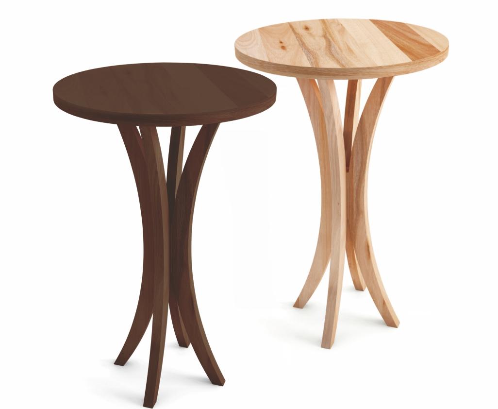 Mesa bar com tampo em madeira